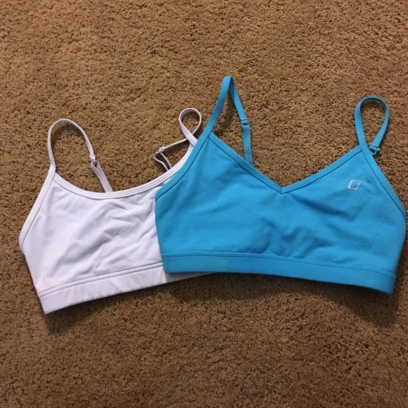 Blue and white Lorna Jane sports bra Blue and white sports bra with adjustable straps and can be clipped in back to be worn as a razorback. Worn a couple times. Does not come with pads but had slides for the insert! Still in great condition ! Can be sold separately Lorna Jane Other