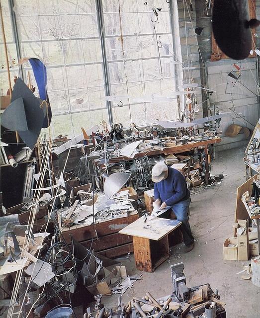 Alexander Calder at home
