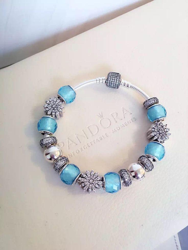 50% OFF!!! $379 Pandora Charm Bracelet Blue. Hot Sale!!! SKU: CB02067 - PANDORA Bracelet Ideas