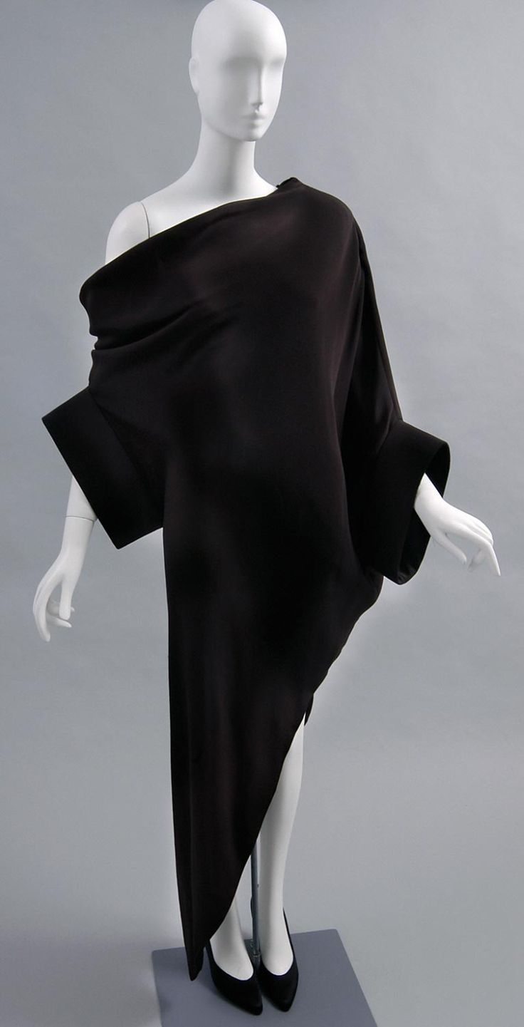 Designed by Pierre Cardin, French (born Italy), born 1922  Geography: Made in France, Europe Date: c. 1989 Medium: Black silk plain weave