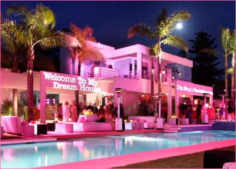 "In honor of Barbie's 50th Birthday/Anniversary – Mattel went all out with a very cool, VERY PINK birthday bash at the ""Real"" Life-Size Barbie Dream House in Malibu, CA."