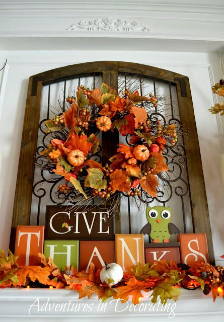 I'd love to try and make the Give Thanks sign, but with a cute turkey, I'm so tired of owls.