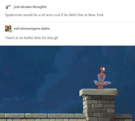 Spiderman not living in New York