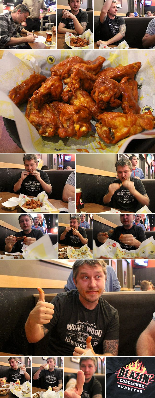 "The ""Blazin' Wing Challenge"" at Buffalo Wild Wings: A Photostory"