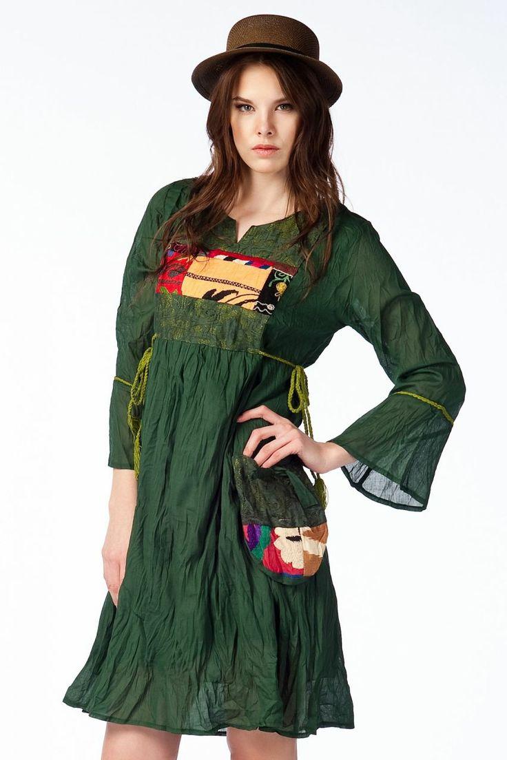 Otantik Köyceğiz Elbise - Haki