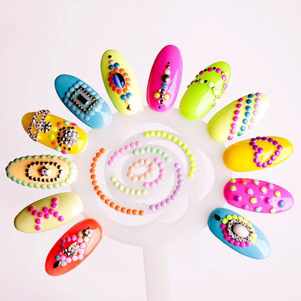 37 best nail art images on pinterest acrylics belle nails and 2000 neon stud manicure nail art decorations in 6 colours 2 shapes by cheeky prinsesfo Choice Image