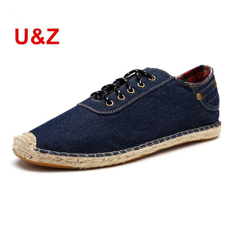 2016 Canvas Espadrilles driving Shoes Men match your jeans,100% Cotton casual Flats Blue/Black Plus Big size shoes US11. Yesterday's price: US $62.00 (51.01 EUR). Today's price: US $27.28 (22.55 EUR). Discount: 56%.
