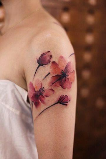 20 fantásticas tatuagens do estilo Aquarela para se inspirar