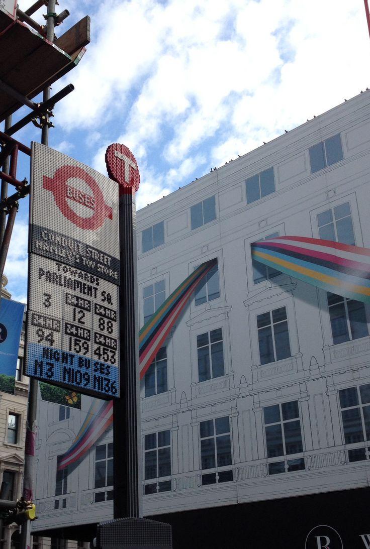 Bus Stop LEGO london Oxford Circus