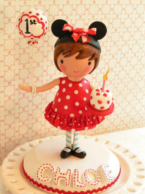 Une pièce maîtresse anniversaire Sweetie Pie Cake Topper-Minnie Mouse