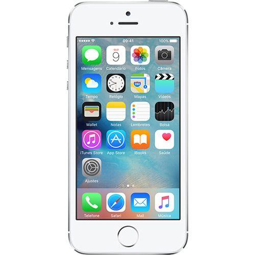 (Shoptime) iPhone 5S 32GB Prata Tela 4 ´ IOS 8 4G Câmera 8MP - Apple - de R$ 3444.2 por R$ 1891.12 (46% de desconto)