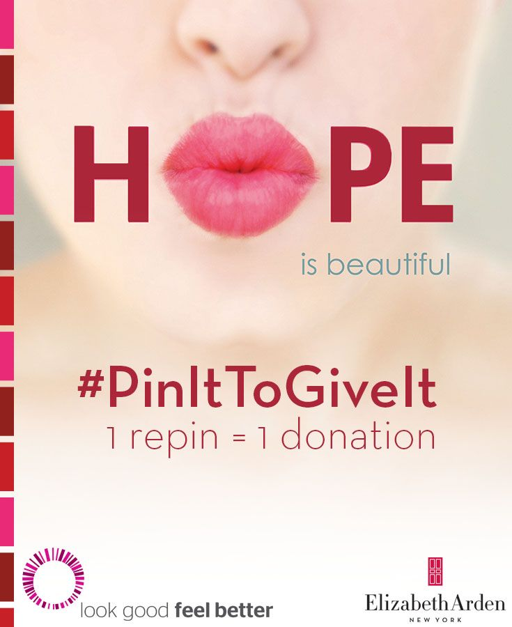 #PinItToGiveIt! 1 repin = 1 lipstick donation to help women battling cancer look & feel beautiful.