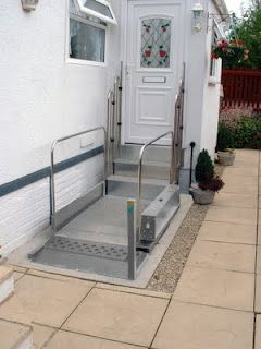 #DisabilityDesign, #Age-In-Place, Mobility Products for the Disabled: Wheelchair Step Lifts
