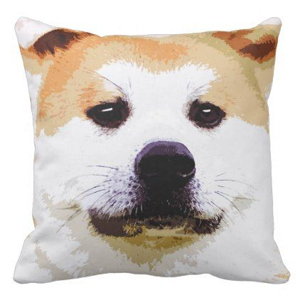 Akita dog throw pillow  $49.65  by Happypet  - custom gift idea