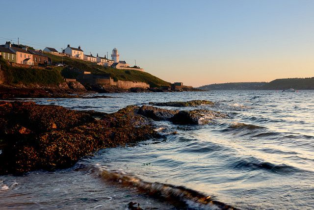 Roches Point Lighthouse at sunset, County Cork by iancowe on FlickrFields In Ireland