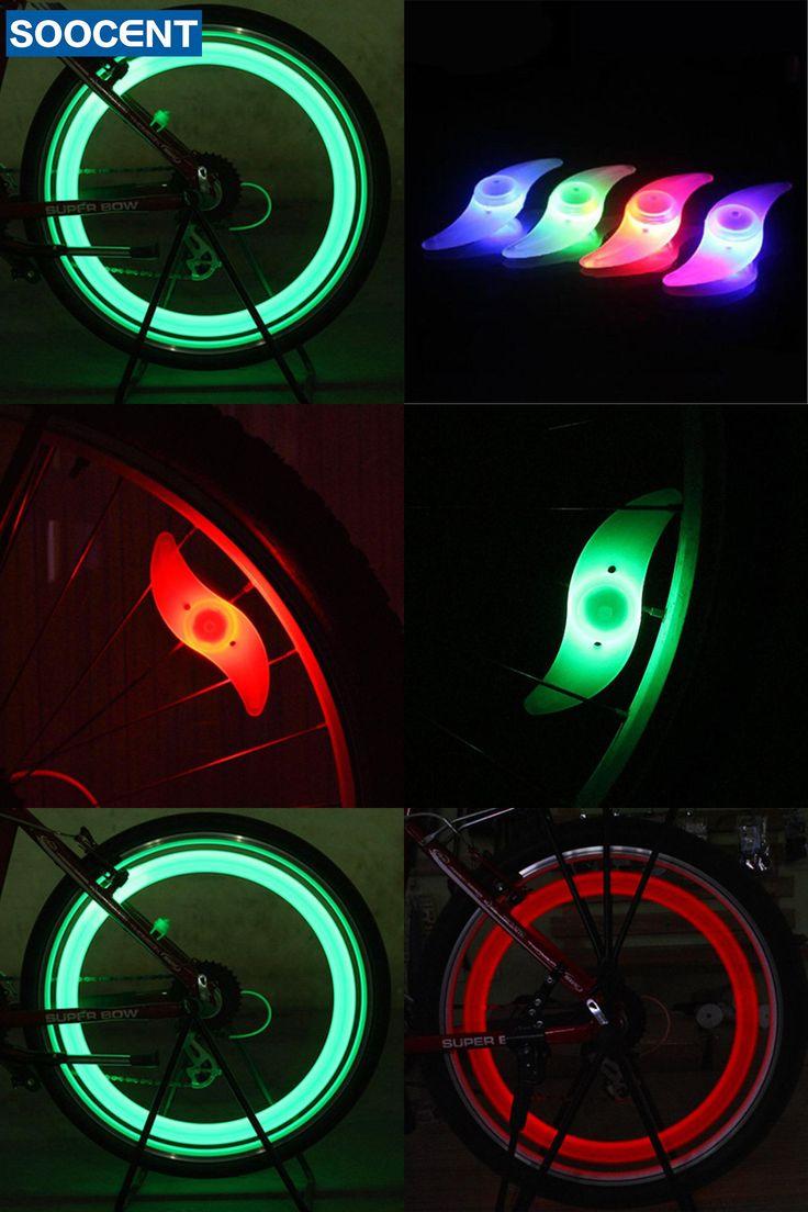 [Visit to Buy] Hot Wheels Bike Bicycle Light Accessories Cycling Bike Led Wheel Spoke Warning Lights Luz Bicicleta Flashlight #Advertisement