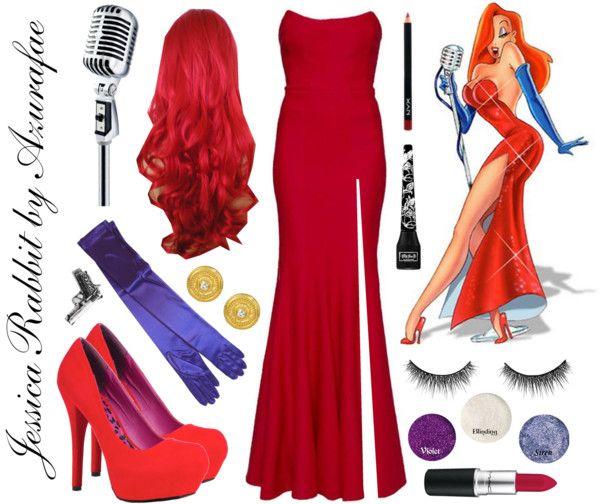 Jessica Rabbit cosplay with makeup tutorial.