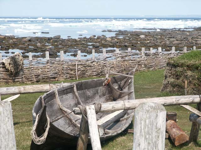Based on archaeological evidence, scholars believe that Vikings were the first Europeans to explore North America and that L'Anse aux Meadows (pictured here, in Newfoundland) is the location of the first Viking settlement.