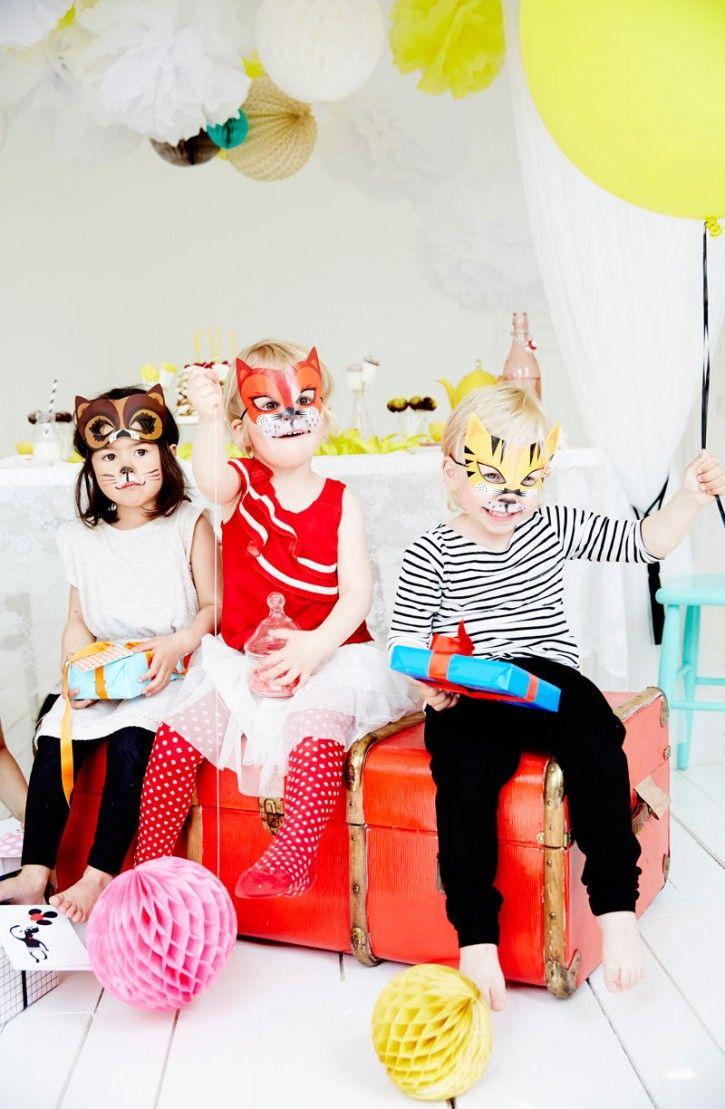 Ejvor #nordicdesigncollective #ejvor #animalmask #party #kidsparty #djurmask #kalas