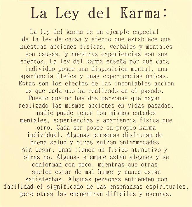 La ley del Karma...