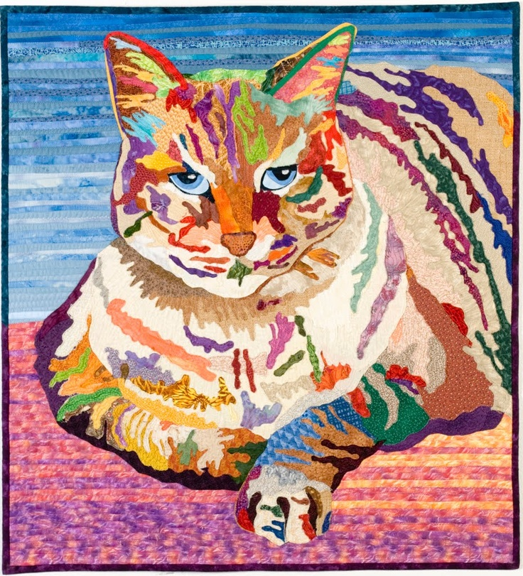 Amazing Quilts: 300 Best Images About Psychedelic Cats On Pinterest