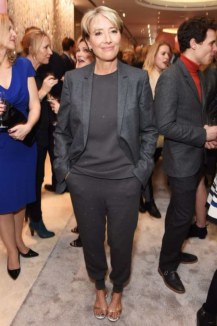 Emma Thompson in Stella McCartney luxury sportswear