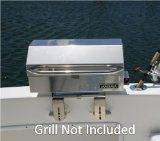 SeaSucker Marine BBQ Grill Removable Bracket - Powerful Vacuum Cup Mounts (GRILL NOT INCLUDED) - http://www.boatpartdeals.com/cabin-and-galley/marine-grills/seasucker-marine-bbq-grill-removable-bracket-powerful-vacuum-cup-mounts-grill-not-included/