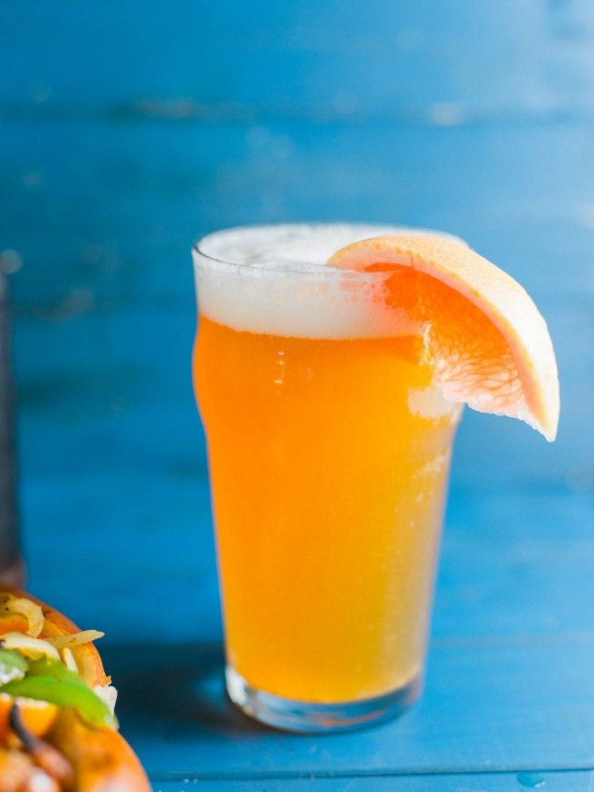 Grapefruit Honey Ale Home brewed and paired with a Beer Brat! #beer #craftbrew #homebrew