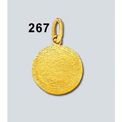 Μενταγιόν Δίσκος Φαιστού Πλακέ Δ Κ14 Kallin - ΑρχαιοΕλληνικά - Κολιέ - Μενταγιόν - Κοσμήματα
