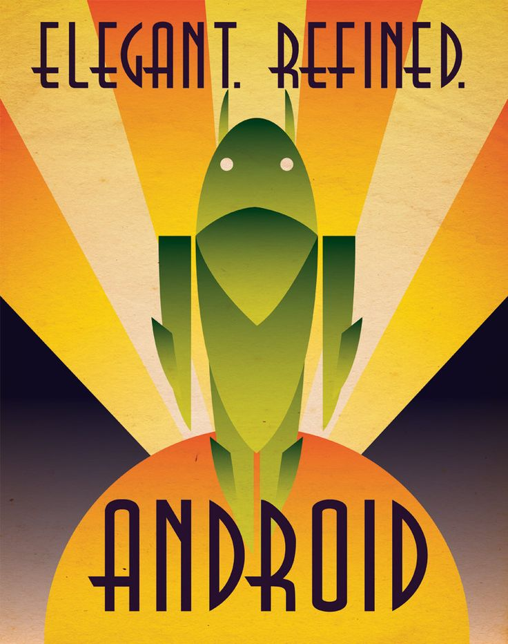 Art Deco Android Poster. $8.50, via Etsy.
