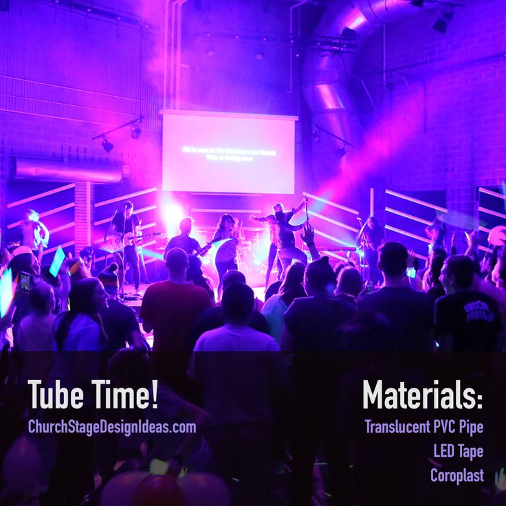 tube time stage set designchurch - Concert Stage Design Ideas