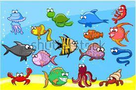 morské živočíchy kreslene - Hľadať v Google