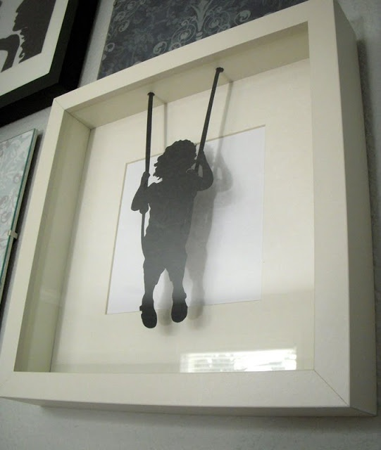silhouette photo kate on a swing in ribba ikea frame