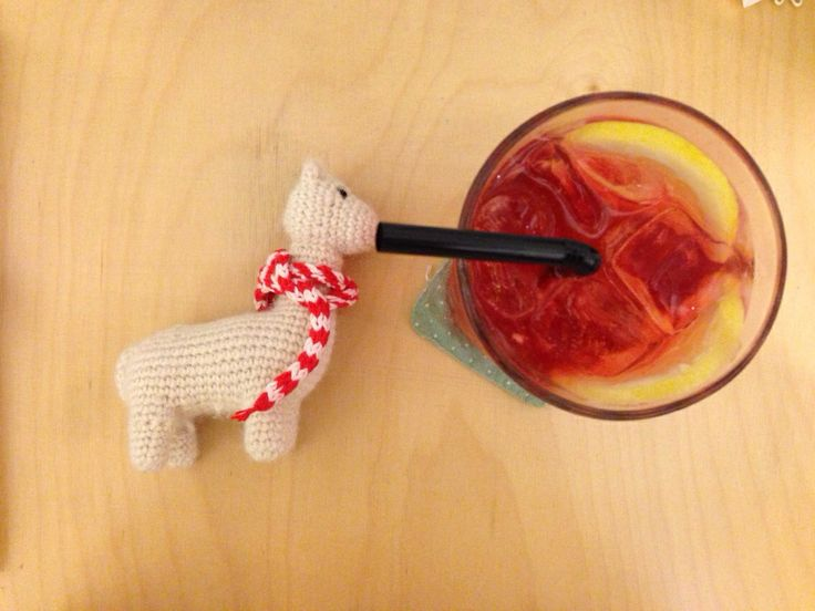 [suaveperu] Alpaca knitting doll + lemon ade