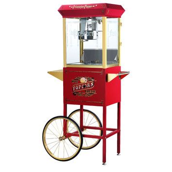 Great Northern Popcorn Princeton 8 Ounce Antique Popcorn Machine with Cart