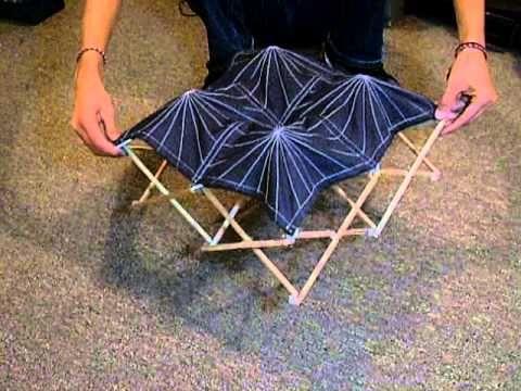 Modelo de sitemas de tijeras rectas exentricas en una direccion, con sistema retractil para la tela o membrana