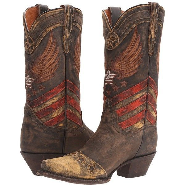 Dan Post N'dependence (Brown/Multi) Cowboy Boots ($290) ❤ liked on Polyvore featuring shoes, boots, mid-calf boots, brown cowgirl boots, brown cap, cowboy boots, embroidered caps and mid calf cowboy boots