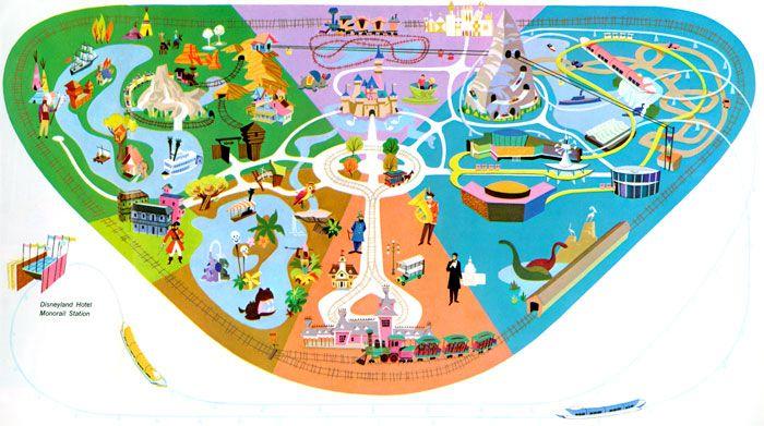 Disneyland Map Map Pinterest Disneyland Map Vintage - Disneyland brazil map