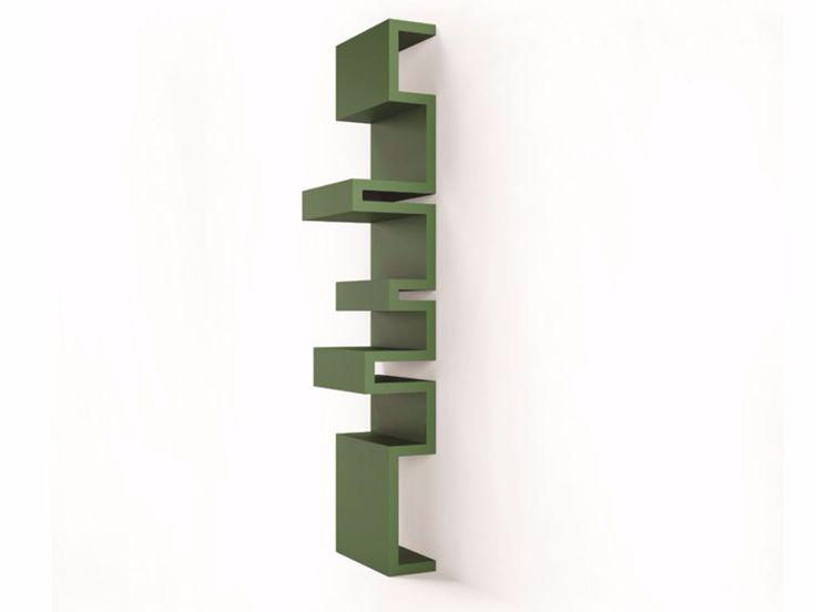 Bibliothèque ouverte laquée suspendue TODO by ARKOF LABODESIGN design Giulia Contaldo