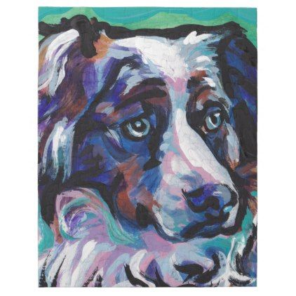 #Fun Australian Shepherd  Dog Pop Art painting Jigsaw Puzzle - #Petgifts #Pet #Gifts #giftideas #giftidea #petlovers