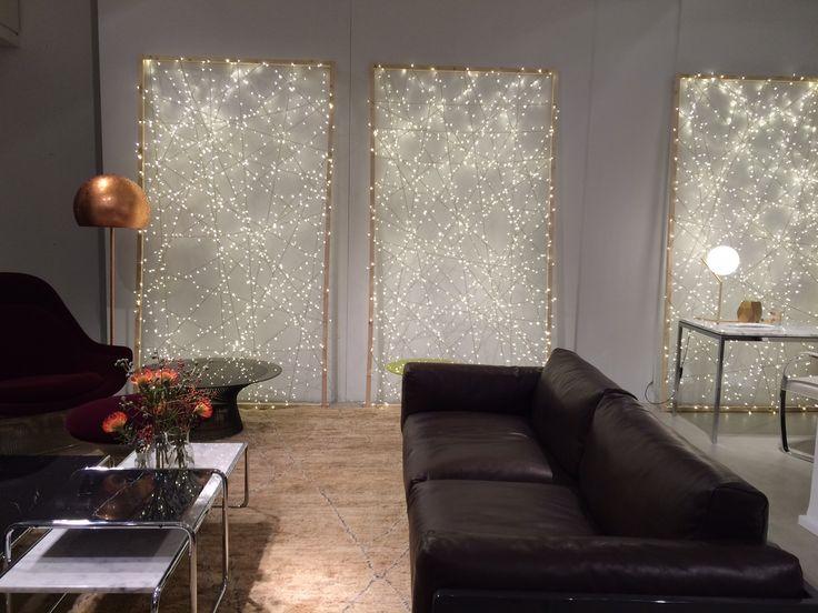 @KnollDesign Europe Xmas 2014 special display in collaboration with OpinionCiatti - #LAlampada copper leaf design Lapo Ciatti at Knoll Showroom in Milan photo courtesy by vandersandestudio