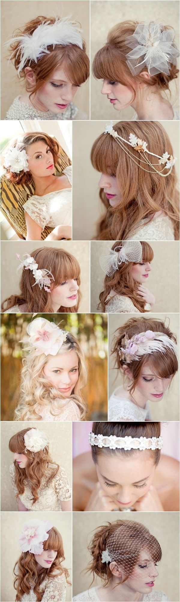 Modern Veil and Headpiece Ideas