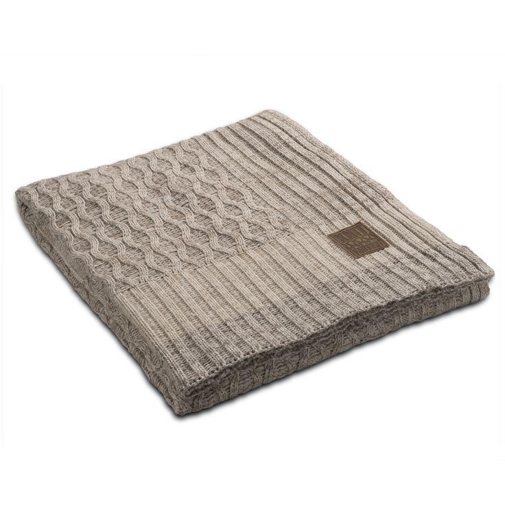 Plaid Trix beige mele by Knit Factory www.knitfactory.nl