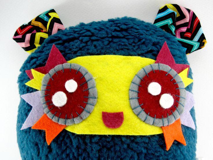 Cute Cozy Stuffed Animal Fluffy Ball Poppy by JazzyRaccoon on Etsy