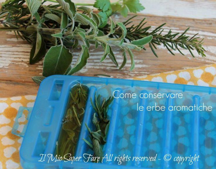 Come conservare le erbe aromatiche per poter godere del loro aroma durante tutto l'anno? Le possiamo congelare in olio, essiccare o congelare al naturale