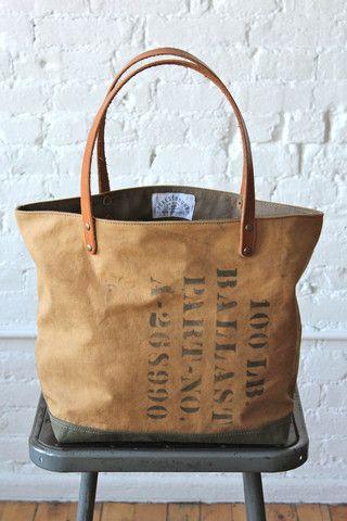 WWII era US Military Canvas Tote Bag w/ Vietnam era Patch - FORESTBOUND