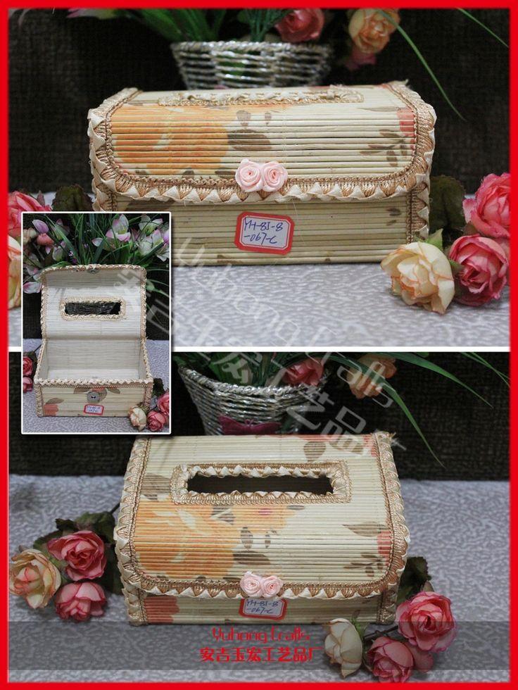 По охране окружающей среды бамбуковые коробки ткани кружева украшенные ящик для хранения салфетки коробки или таблица украшения и аксессуары в домашнем хозяйстве или автомобиля