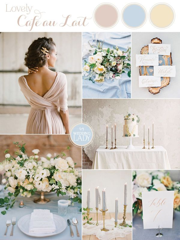 Dreamy Blue and Latte Wedding Palette | http://heyweddinglady.com/dreamy-blue-latte-wedding-palette/