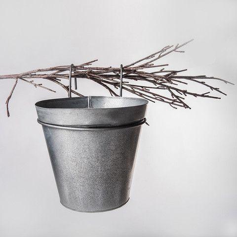 indoor tin pail planter