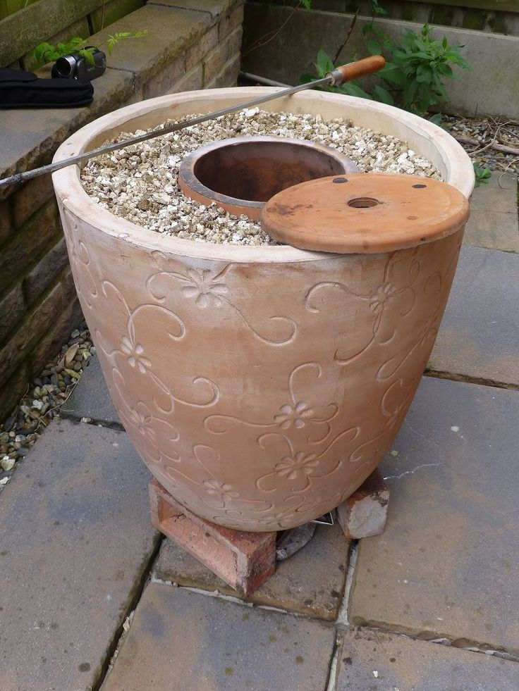 Mark Two Tandoor after my original Flower Pot Tandoor http://youtu.be/9lEwA7f8HIY . This one is bigger and better than the original and cooks meat perfectly....